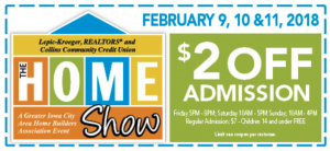 The Iowa City Home Show Coupon