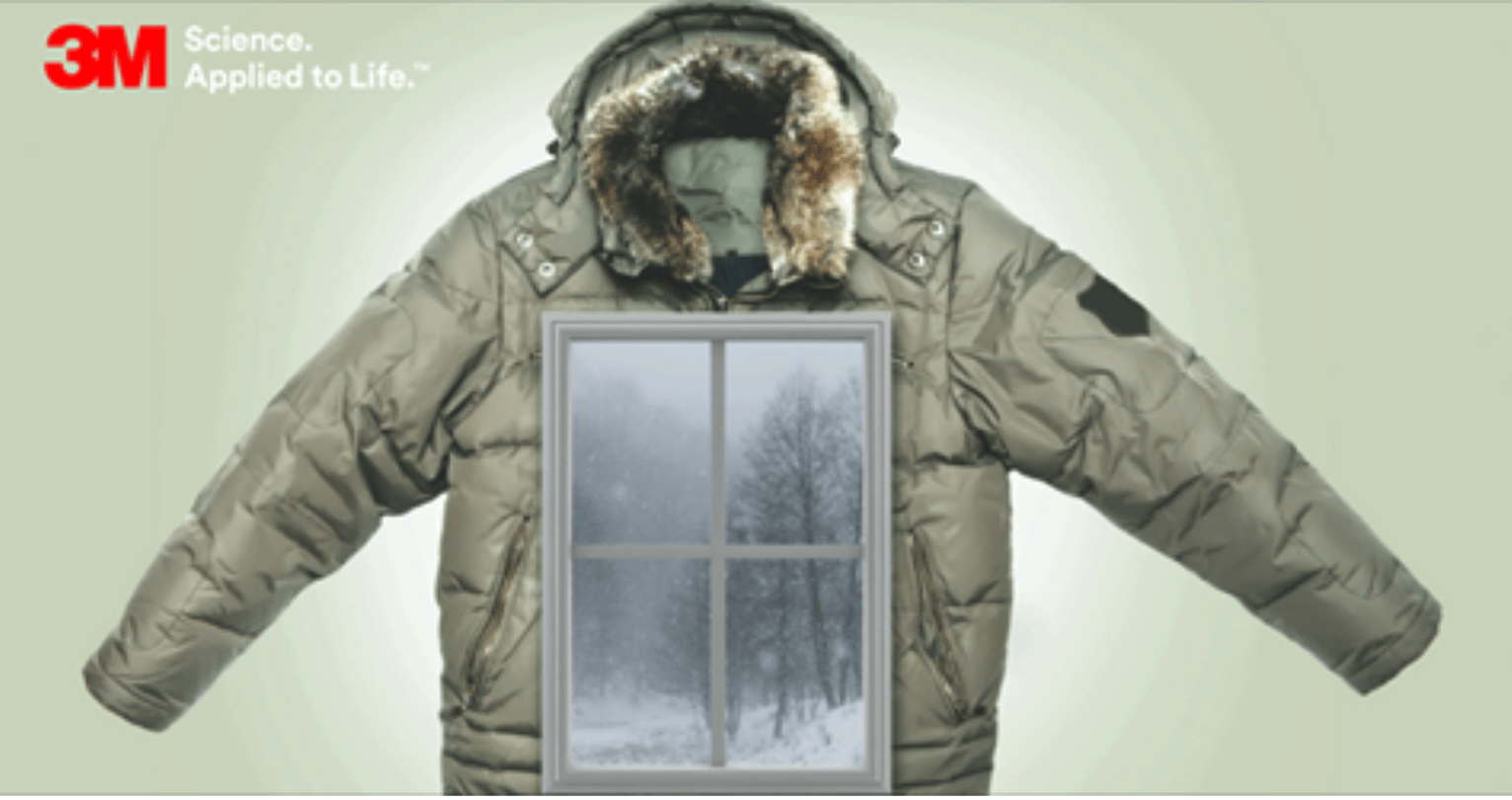 3M Thinsulate Window Insulation - A Winter Jacket for Home Windows - Home Window Tinting in Iowa City, Cedar Rapids, and the Quad Cities area of Iowa