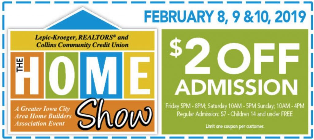 Iowa City Home Show Coupon - Iowa City, Iowa Home Show Coupon